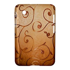 Texture Material Textile Gold Samsung Galaxy Tab 2 (7 ) P3100 Hardshell Case