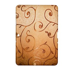 Texture Material Textile Gold Samsung Galaxy Tab 2 (10 1 ) P5100 Hardshell Case