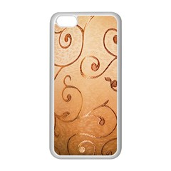 Texture Material Textile Gold Apple Iphone 5c Seamless Case (white)