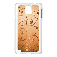 Texture Material Textile Gold Samsung Galaxy Note 3 N9005 Case (White)