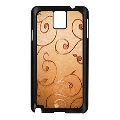 Texture Material Textile Gold Samsung Galaxy Note 3 N9005 Case (black)