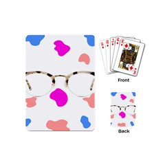 Glasses Blue Pink Brown Playing Cards (Mini)