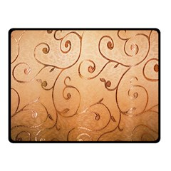 Texture Material Textile Gold Double Sided Fleece Blanket (small)