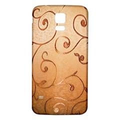 Texture Material Textile Gold Samsung Galaxy S5 Back Case (white)