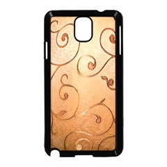 Texture Material Textile Gold Samsung Galaxy Note 3 Neo Hardshell Case (black)