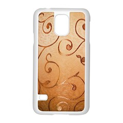Texture Material Textile Gold Samsung Galaxy S5 Case (White)