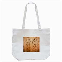 Texture Material Textile Gold Tote Bag (white)