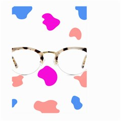 Glasses Blue Pink Brown Large Garden Flag (two Sides)