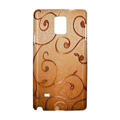 Texture Material Textile Gold Samsung Galaxy Note 4 Hardshell Case