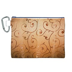 Texture Material Textile Gold Canvas Cosmetic Bag (xl)