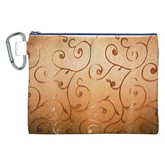 Texture Material Textile Gold Canvas Cosmetic Bag (xxl)