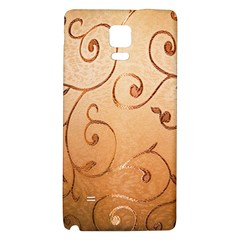 Texture Material Textile Gold Galaxy Note 4 Back Case
