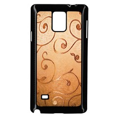 Texture Material Textile Gold Samsung Galaxy Note 4 Case (black)