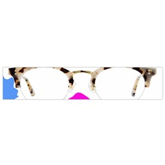 Glasses Blue Pink Brown Flano Scarf (Small)
