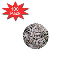 Ice Leaves Frozen Nature 1  Mini Magnets (100 Pack)