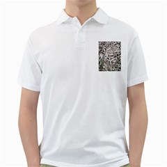 Ice Leaves Frozen Nature Golf Shirts