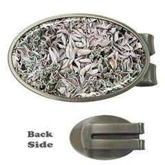 Ice Leaves Frozen Nature Money Clips (oval)
