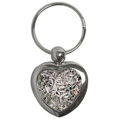 Ice Leaves Frozen Nature Key Chains (heart)