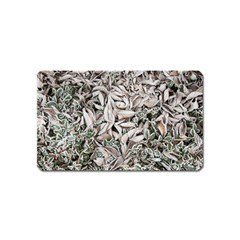 Ice Leaves Frozen Nature Magnet (Name Card)