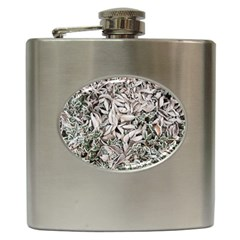 Ice Leaves Frozen Nature Hip Flask (6 Oz)