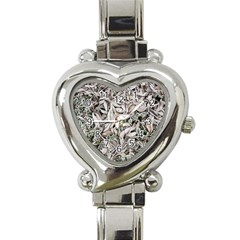 Ice Leaves Frozen Nature Heart Italian Charm Watch