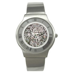 Ice Leaves Frozen Nature Stainless Steel Watch