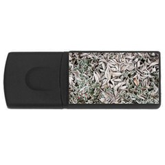 Ice Leaves Frozen Nature USB Flash Drive Rectangular (4 GB)