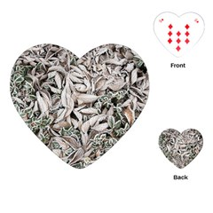 Ice Leaves Frozen Nature Playing Cards (heart)