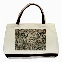 Ice Leaves Frozen Nature Basic Tote Bag
