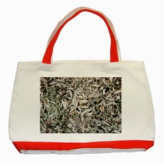Ice Leaves Frozen Nature Classic Tote Bag (red)
