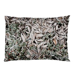 Ice Leaves Frozen Nature Pillow Case