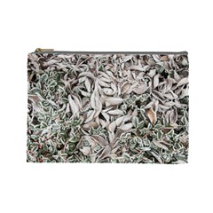 Ice Leaves Frozen Nature Cosmetic Bag (large)