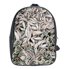 Ice Leaves Frozen Nature School Bags(large)