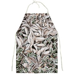 Ice Leaves Frozen Nature Full Print Aprons