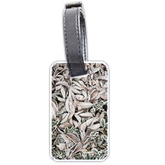Ice Leaves Frozen Nature Luggage Tags (one Side)