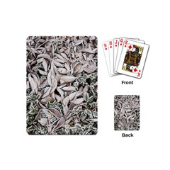 Ice Leaves Frozen Nature Playing Cards (mini)