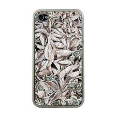 Ice Leaves Frozen Nature Apple Iphone 4 Case (clear)