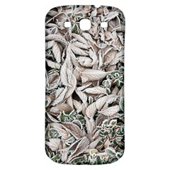 Ice Leaves Frozen Nature Samsung Galaxy S3 S III Classic Hardshell Back Case