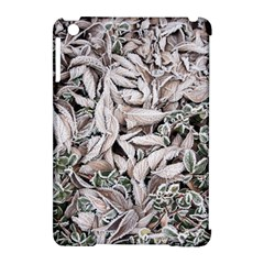 Ice Leaves Frozen Nature Apple Ipad Mini Hardshell Case (compatible With Smart Cover)
