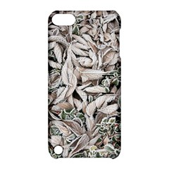 Ice Leaves Frozen Nature Apple iPod Touch 5 Hardshell Case with Stand