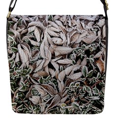 Ice Leaves Frozen Nature Flap Messenger Bag (s)