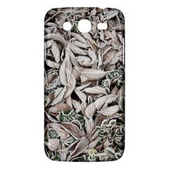 Ice Leaves Frozen Nature Samsung Galaxy Mega 5 8 I9152 Hardshell Case