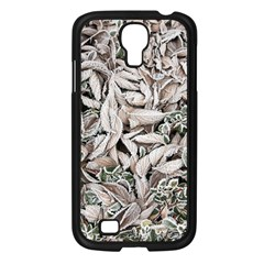 Ice Leaves Frozen Nature Samsung Galaxy S4 I9500/ I9505 Case (black)