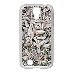 Ice Leaves Frozen Nature Samsung Galaxy S4 I9500/ I9505 Case (white)