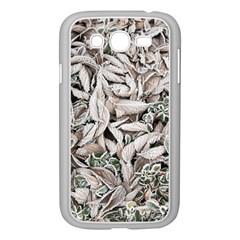 Ice Leaves Frozen Nature Samsung Galaxy Grand Duos I9082 Case (white)