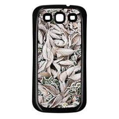 Ice Leaves Frozen Nature Samsung Galaxy S3 Back Case (black)