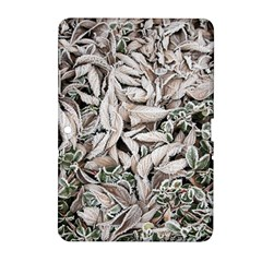 Ice Leaves Frozen Nature Samsung Galaxy Tab 2 (10 1 ) P5100 Hardshell Case