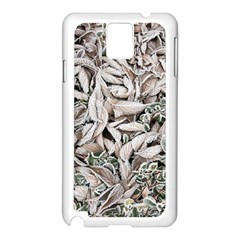 Ice Leaves Frozen Nature Samsung Galaxy Note 3 N9005 Case (white)
