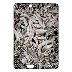 Ice Leaves Frozen Nature Amazon Kindle Fire Hd (2013) Hardshell Case