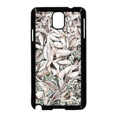 Ice Leaves Frozen Nature Samsung Galaxy Note 3 Neo Hardshell Case (Black)